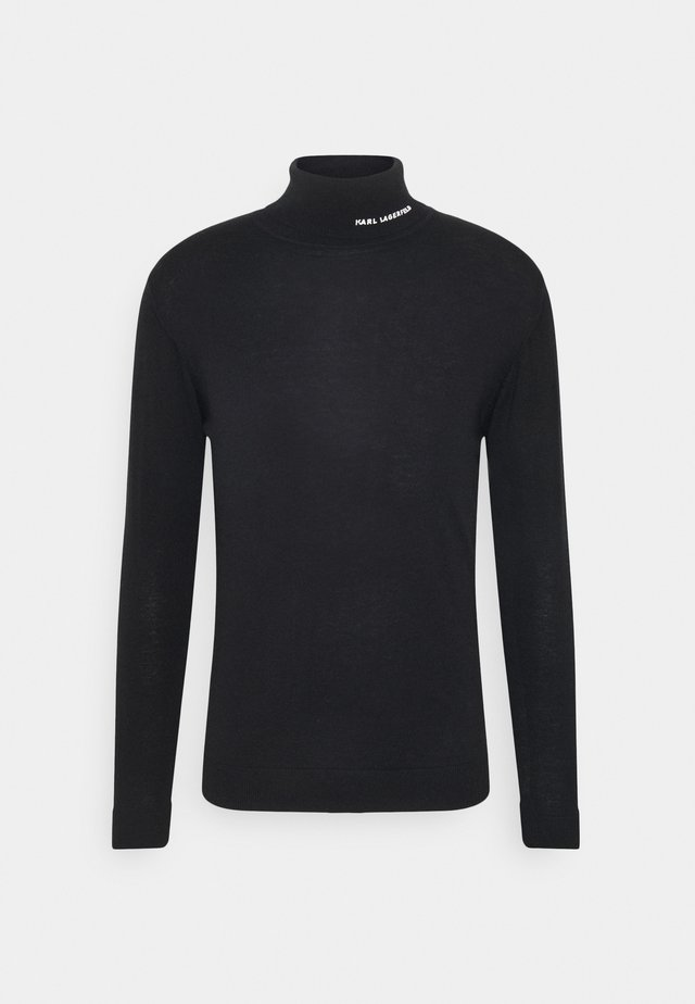 ROLLNECK - Strickpullover - black