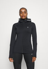 Peak Performance - RIDER ZIP HOOD - Fleece jacket - black - 0
