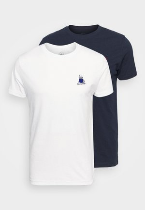 TIMMI EMBRODERY TEE 2 PACK - T-shirt print - navy/white