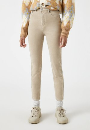 Trousers - mottled beige