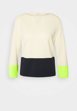 COLOUR BLOCK STRIPES - Sweter - light soft sand