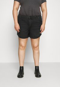 Noisy May Curve - NMSMILEY - Shorts di jeans - black denim - 0