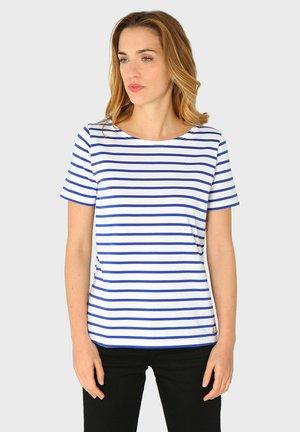 HOËDIC MARINIÈRE - Print T-shirt - blanc/etoile
