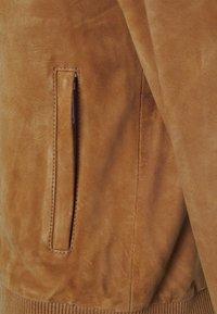 Selected Homme - SLHBROKE - Veste en cuir - rubber - 3