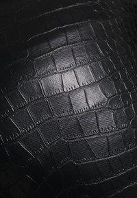 Topshop - CROC FLARE - Trousers - black - 5