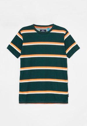 T-shirt print - blue/orange