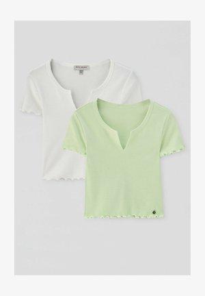 2 PACK - T-shirt basique - green