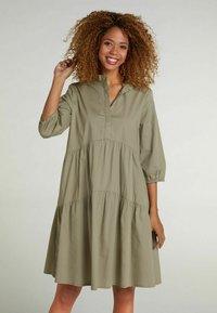 Oui - Shirt dress - khaki - 0
