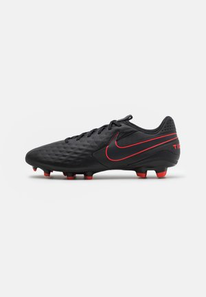 TIEMPO LEGEND 8 ACADEMY FG/MG - Moulded stud football boots - black/dark smoke grey/chile red