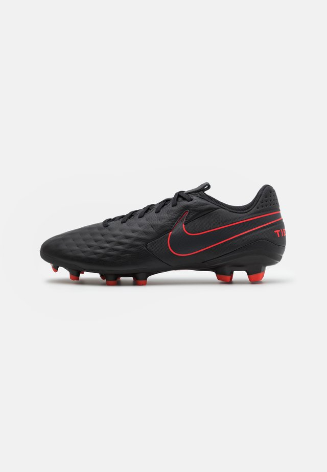 TIEMPO LEGEND 8 ACADEMY FG/MG - Fußballschuh Nocken - black/dark smoke grey/chile red