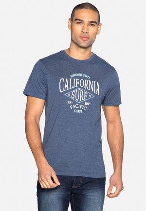 SUNSHINE - T-shirt med print - denim marl