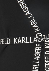 KARL LAGERFELD - LOGO TAPE WRAP DRESS - Jumper dress - black - 6