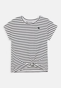 Abercrombie & Fitch - TWIST FRONT TEE - Print T-shirt - blue - 0