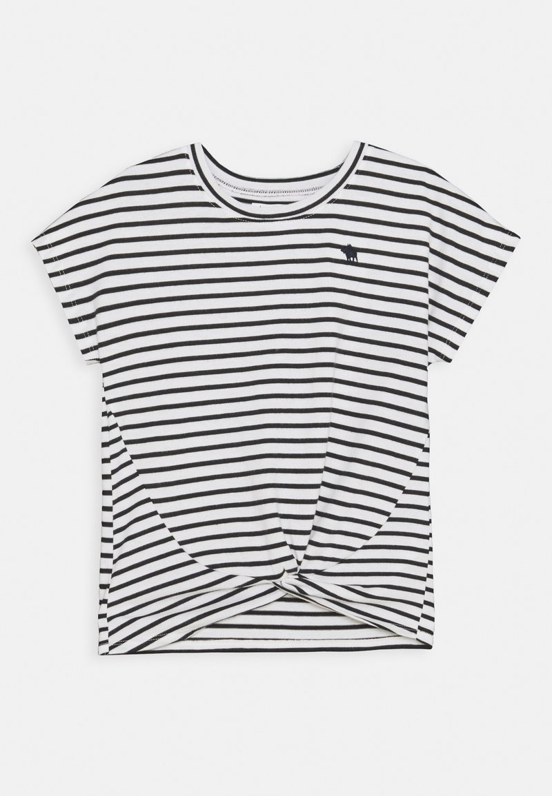 Abercrombie & Fitch - TWIST FRONT TEE - Print T-shirt - blue