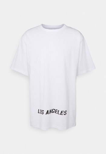 LOS ANGELES UNISEX - Triko spotiskem - white