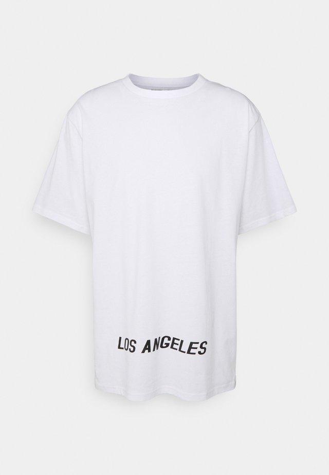 LOS ANGELES UNISEX - Print T-shirt - white