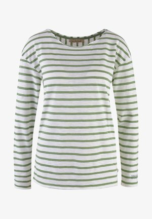 LANGARM GESTREIFT  - Long sleeved top - sage green
