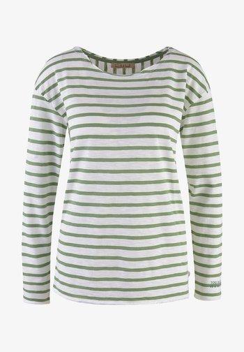 LANGARM GESTREIFT  - Long sleeved top - sage green
