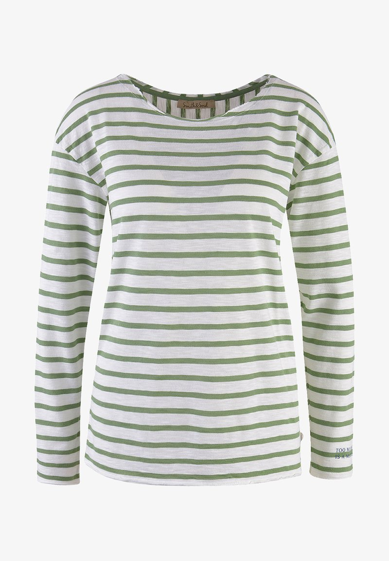 Smith&Soul - LANGARM GESTREIFT  - Long sleeved top - sage green