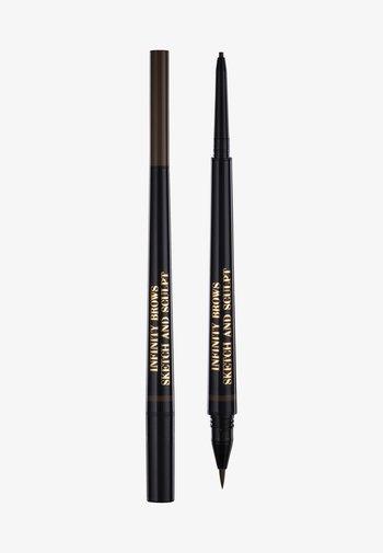 INFINITY POWER BROWS - SKETCH AND SCULPT LIQUID LINER & PENCIL - Eyebrow pencil - dark brown