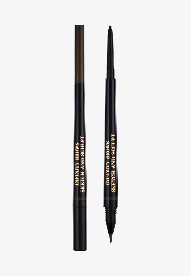 INFINITY POWER BROWS - SKETCH AND SCULPT LIQUID LINER & PENCIL - Eyebrow pencil - dark brown
