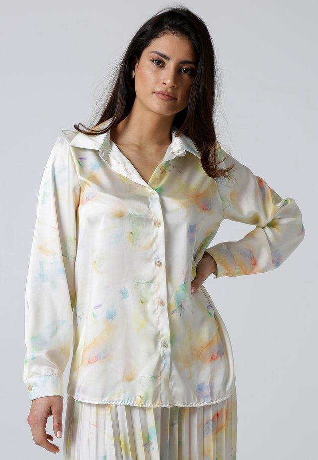 Button-down blouse - mehrfarbig