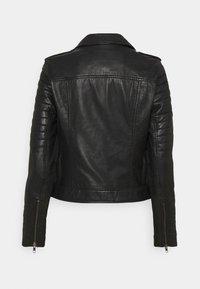 Culture - CENZIA JACKET - Leather jacket - black - 1