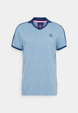 Print T-shirt - blue denim/dark blue