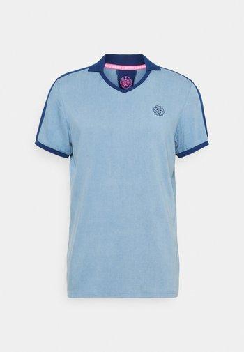 T-shirts med print - blue denim/dark blue