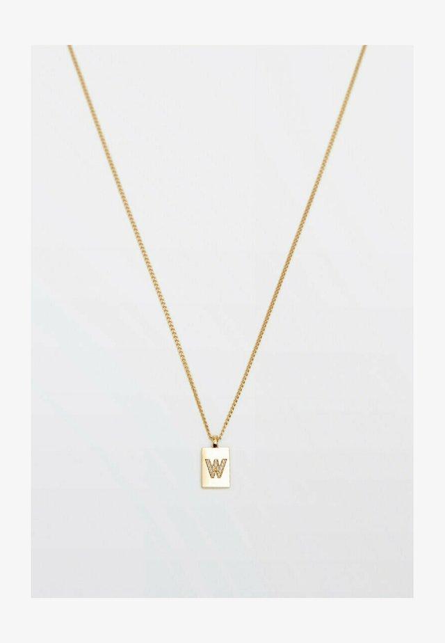 MIT BUCHSTABE W  - Necklace - gold