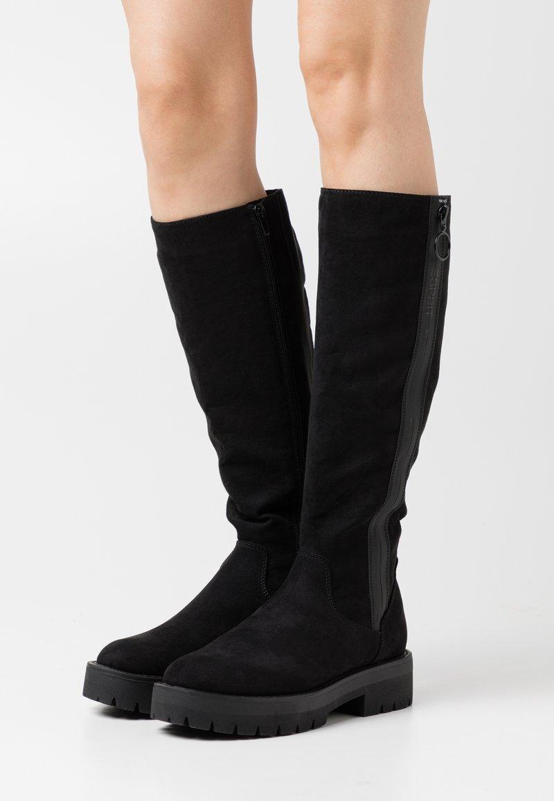 Esprit - NAPOLI BOOT - Kozačky na platformě - black