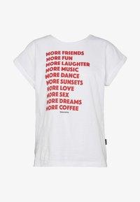 Dedicated - TVISBY MORE - Print T-shirt - white - 3
