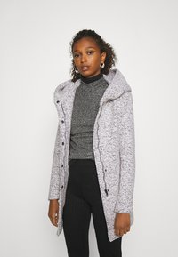 ONLY - ONLNEWSEDONA COAT - Abrigo corto - cloud dancer melange - 0