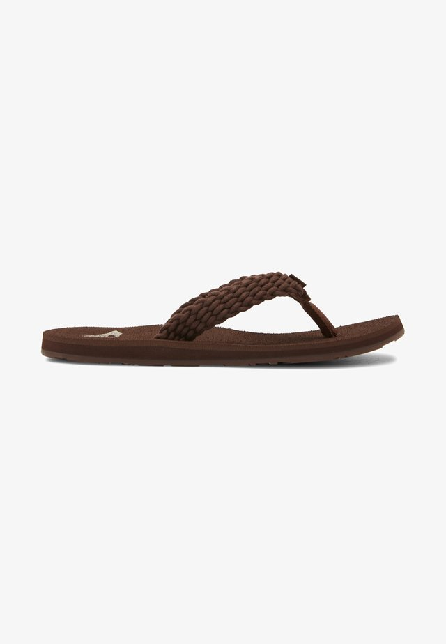PORTO - Teenslippers - brown/chocolate