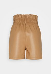Vero Moda - VMSOLARIE COATED - Shorts - tobacco brown - 1