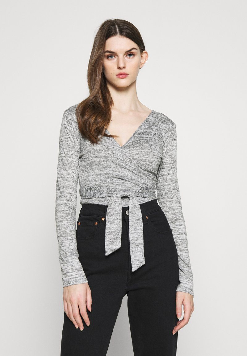 Missguided - BRUSHED WRAP - Jumper - grey