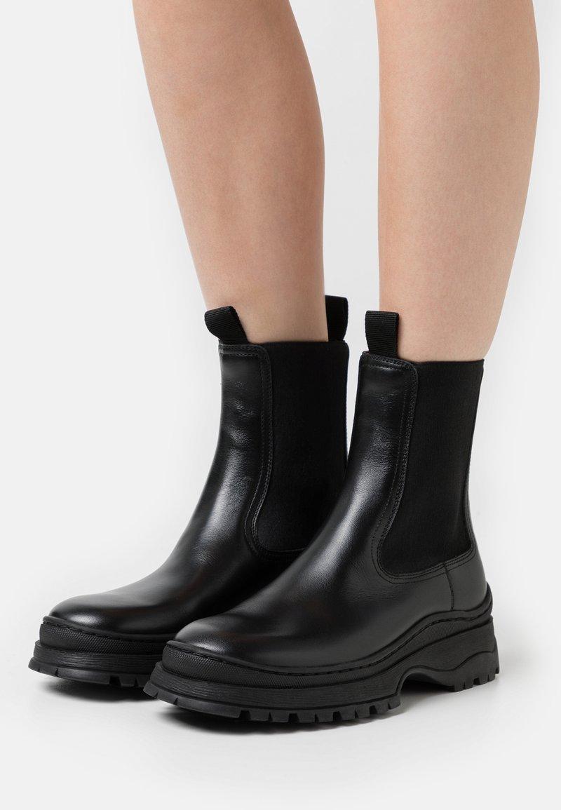 ARKET - Boots - Platform ankle boots - black