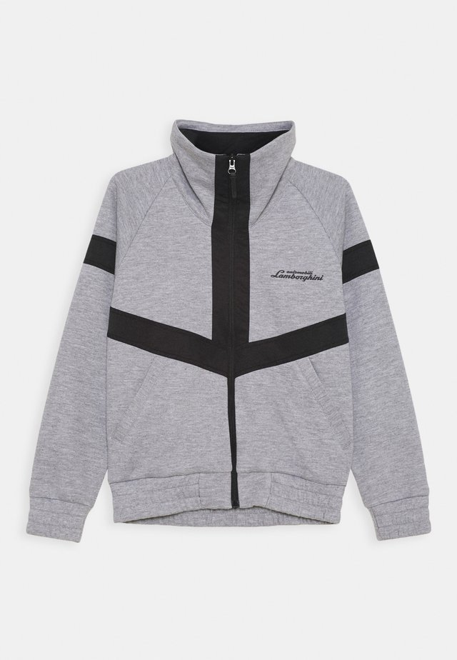 JACKET WITH CONTRAST INSERTS - Jas - grey antares
