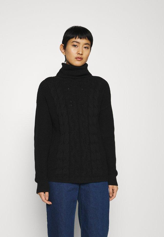 CABLE  - Jersey de punto - true black