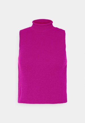 HIGH NECK SLEEVELESS - Top - pink