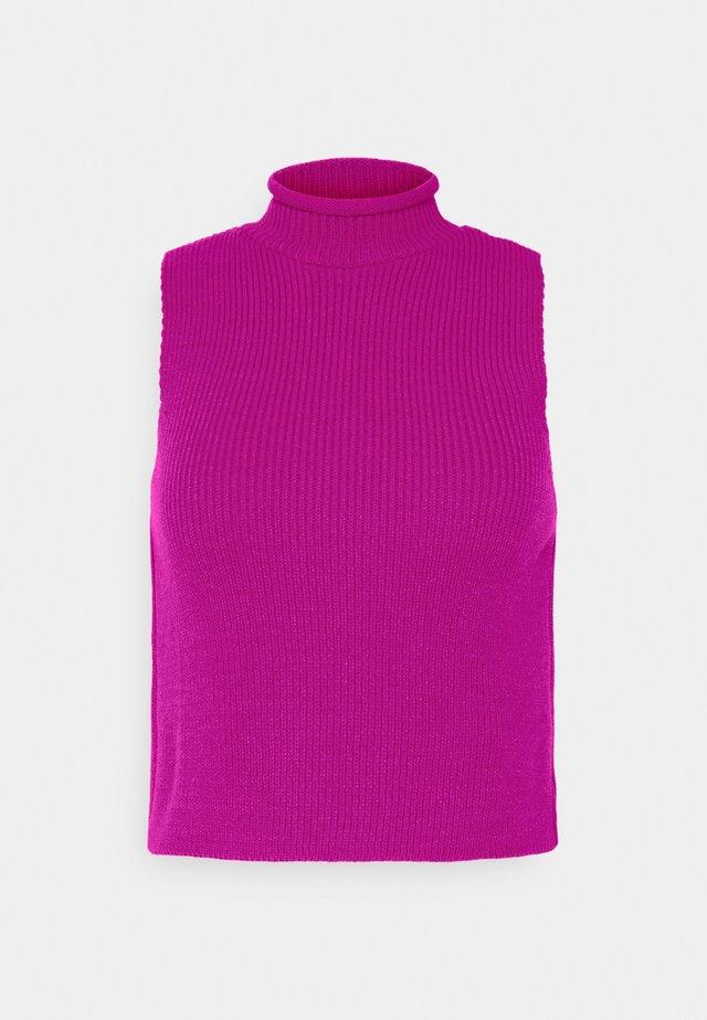 HIGH NECK SLEEVELESS - Top - pink