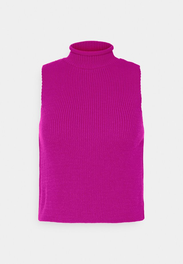 HIGH NECK SLEEVELESS - Débardeur - pink
