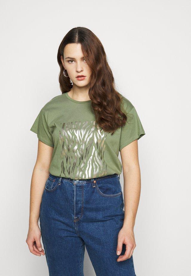 BONJOUR FOIL  - Camiseta estampada - khaki
