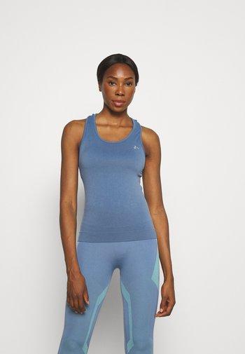 ONPCHRISTINA SEAMLESS  - T-shirt sportiva - bijou blue