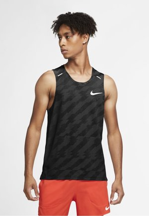 MILER FUTURE FAST - Sports shirt - black/heather/grey fog