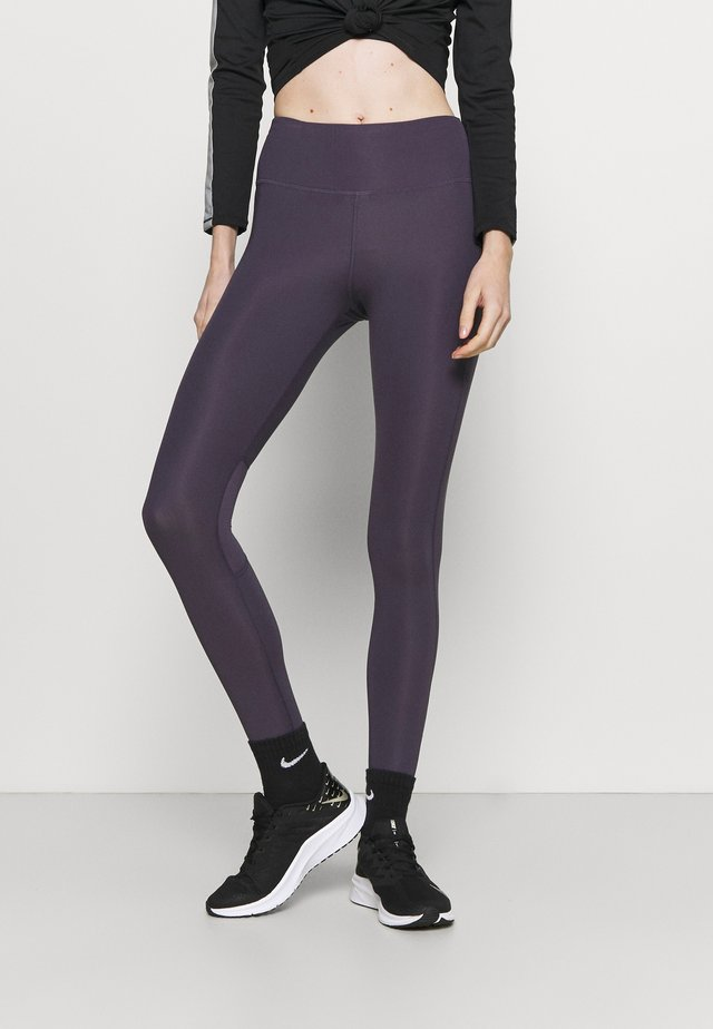 EPIC FAST - Leggings - dark raisin/silver