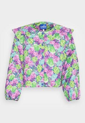 QUINCRAS JACKET - Lehká bunda - green/light blue/pink