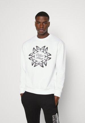 BUTTERFLY CIRCLE CREW UNISEX - Sweatshirt - white