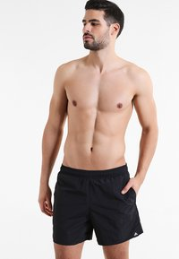 adidas Performance - SOLID  - Swimming shorts - black - 0