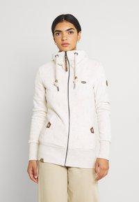 Ragwear - RYLIE MARINA ZIP - Zip-up sweatshirt - beige - 0